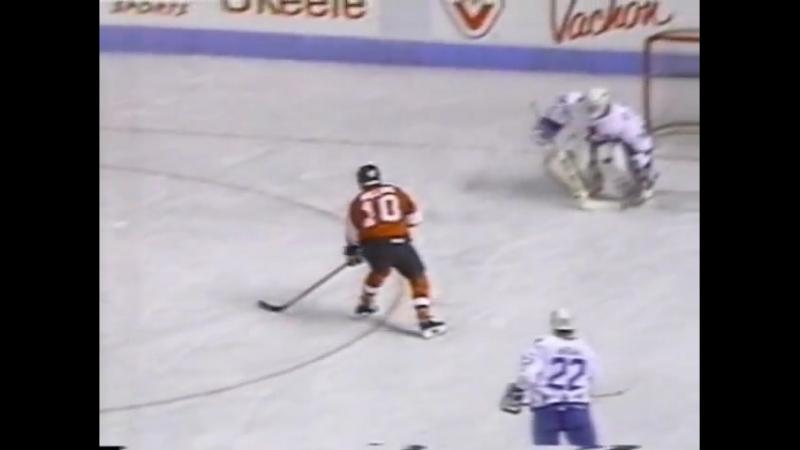 NHL. «Квебек Нордикс» - «Филадельфия Флайерз» /обзор/ (09.12.1989)