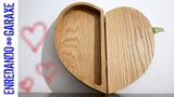 Valentine's day heart shape wooden box