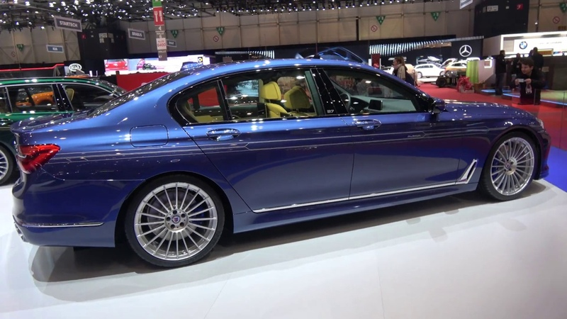 [4k] G30 BMW Alpina B5 BiTurbo, B7 BiTurbo, B4S BiTurbo and D3 STAND OVERVIEW at Geneva Salon 2017