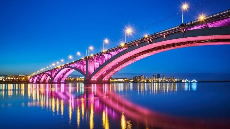 Подсветка Коммунального моста Красноярск