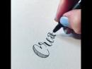 Marita Clark каллиграфия