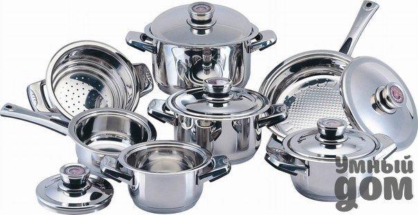 8 главных материалов для кухонной посуды. Что выбрать? Магазины домашней утвари предлагают десятки вариантов посуды для приготовления пищи. Они отличаются друг от друга в первую очередь материалом, из которого сделаны. 1. Чугун Тяжеленная посуда из этого металла, часто глазированная снаружи яркими цветами, - на пике популярности. В отличие от бабушкиных сковородок чугун нового образца не испортит стеклокерамическую плиту. Это экологически чистый материал, отлично подходящий для супов, тушения,…