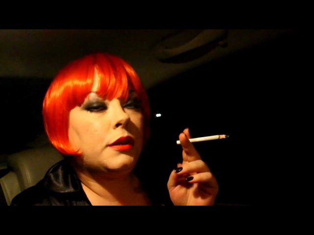 Mistress Tina Smoking 2 Eve 120 Cigarettes In The Back Of The Car - BBW Fetish Wig OMIs Matches
