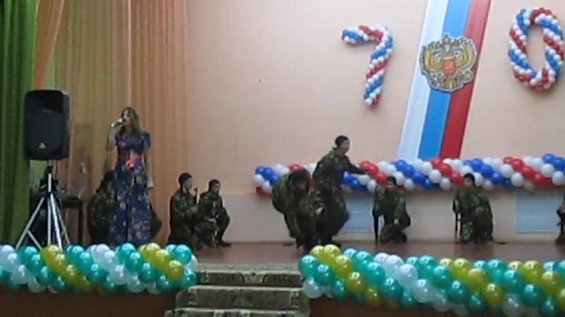 Выступление военно-патреотического клуба Витязьна празднике 70 лет ДСХТ