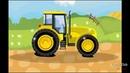 Развивающие мультики для детей от 1, Учим цвета Красим трактор