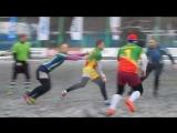 Играют Тушино и Зеленоград, кубок Москвы по регби на снегу, #1