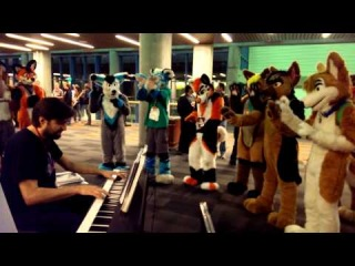 Furries love Super Mario Bros. music (FurCon 2014)