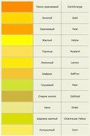 Современные названия цветов и оттенков.