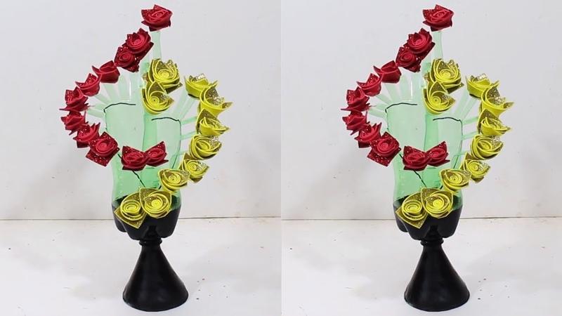 Empty plastic bottle vase making craft | New idea 2 | DBB