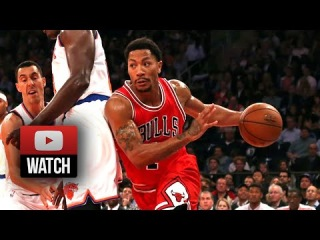 Derrick Rose Full Highlights at Knicks (2014.10.29) - 13 Pts, 5 Ast, Official Return!