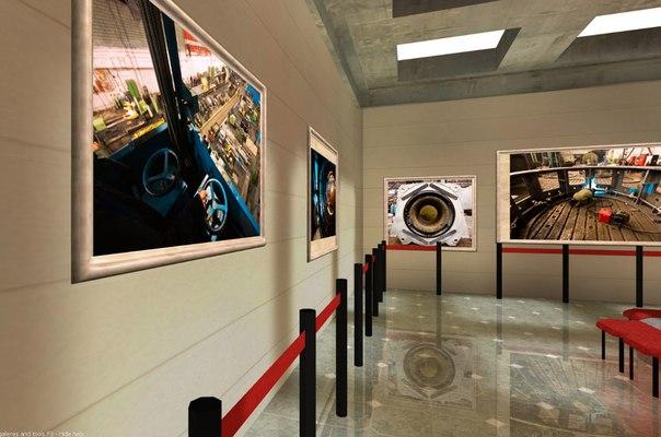 Галерея изображений с эффектом многопиксельного дисплея