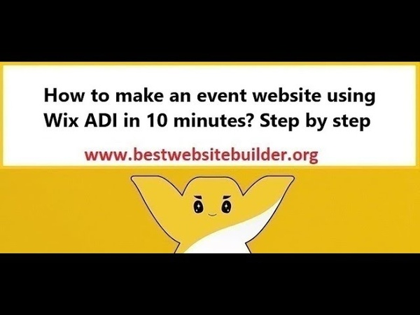 How to make an event website using Wix ADI in 10 minutes? Step by step