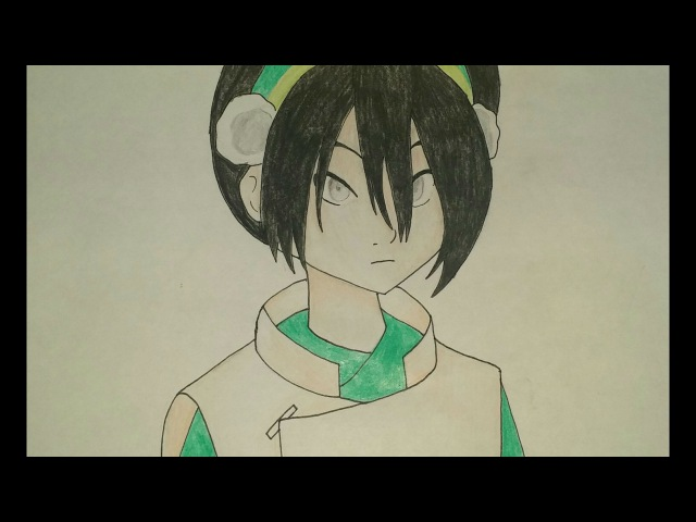 Speed drawing avatar the last airbender-toph(аватар легенда об Аанге-Тоф)