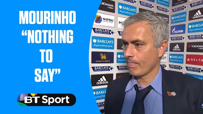 Jose Mourinho has nothing to say after Chelsea are beaten 3-1 by Liverpool