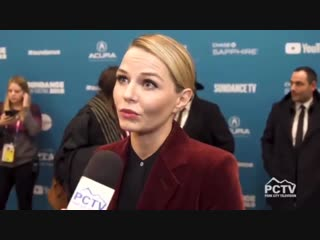 Jennifer Morrison being interviewed by Park City TV at 'The Report' Premiere