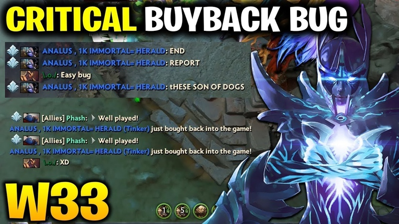 W33 Phantom Assassin - Critical Buyback BUG