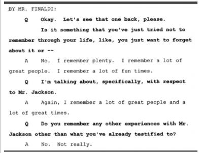 Показания Йоши Уейли, сына Джоли Левин (секретарь MJ)., изображение №25
