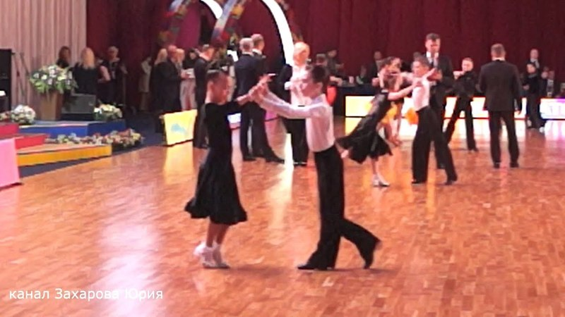 Танцуют в категории Дети 21 Латина (3 танца) (E класс) Захаров Степан и Крапивина Арина пара № 87