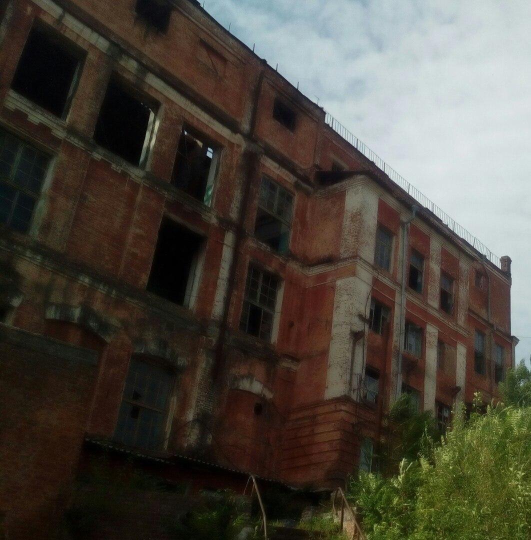 Заброшенный завод на берегу Дона