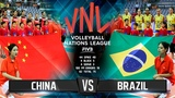 BRONZE Match (BRAZIL vs CHINA) - FINAL HIGHLIGHTS | Womens VNL 2018