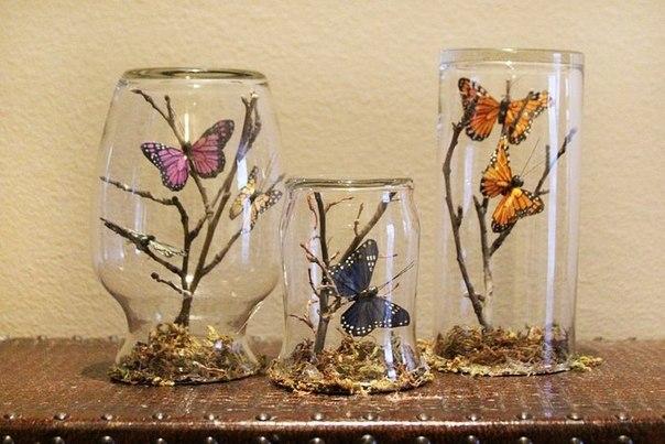 Украшаем интерьер бабочками