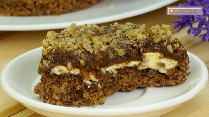 Для настоящих ценителей ореховых десертов Ароматное и нежное пирожное