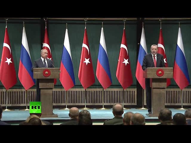 Putin Erdogan speak after meeting in Ankara (Streamed live)
