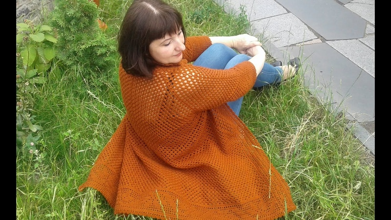 Кардиган из шестиугольников. Фотоальбом. Часть 5. Knitting womens cardigan.