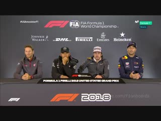 2018 United States - Drivers Press Conference