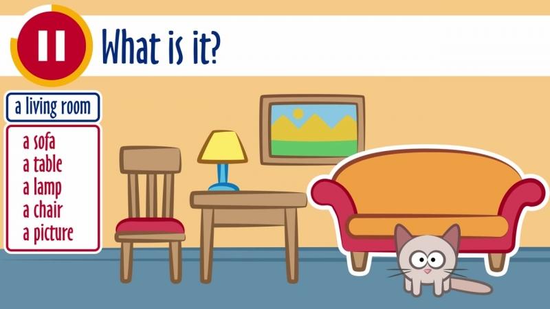Английский с котиком Учимся называть предметы Урок для детей и начинающих online video