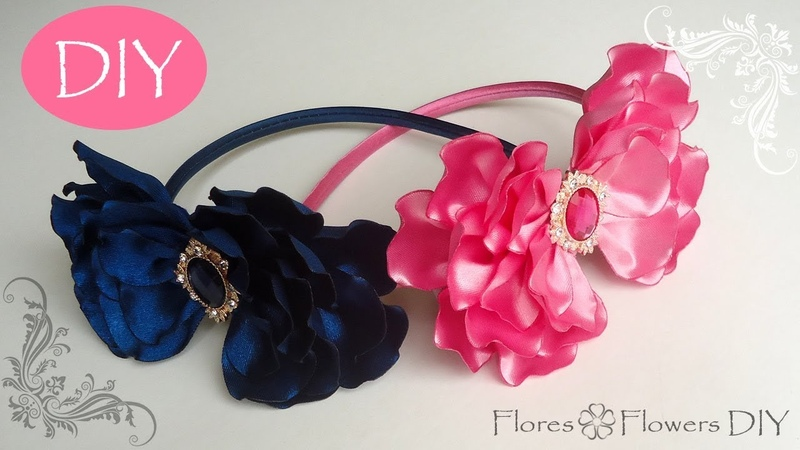 🌸Vincha con lazo de cintas raso super fácil de hacer. Nice bow everybody can do.