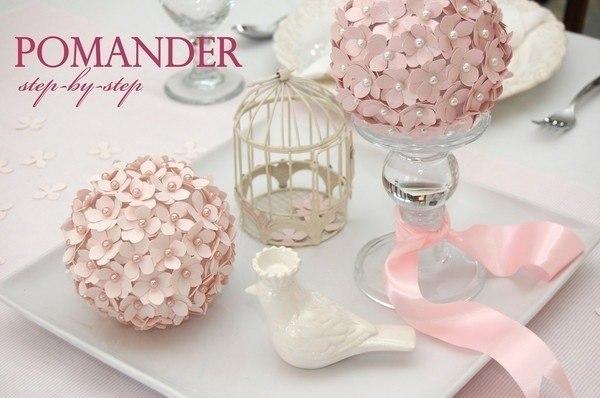 Цветочный шар для декора (5 фото) - картинка