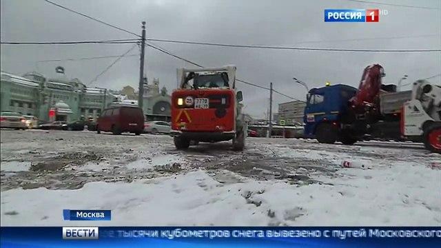 Вести-Москва • Снегопад в Москве 900 аварий на дорогах и десятки отмененных авиарейсов