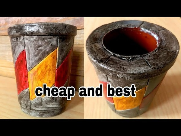 How to make colourful flower pot very easy