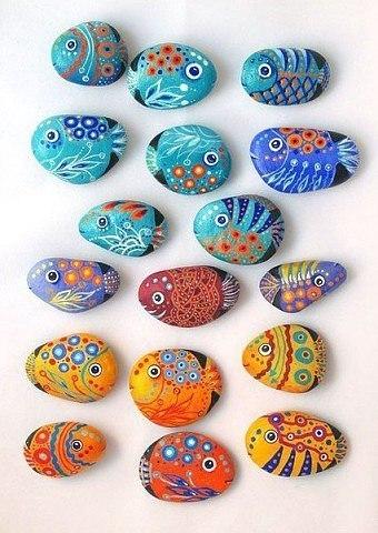 Идеи для росписи морских камней