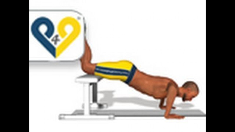Push ups - knee on bench