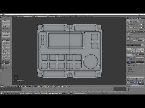Blender 3D Modeling Test huge n gons simple mesh