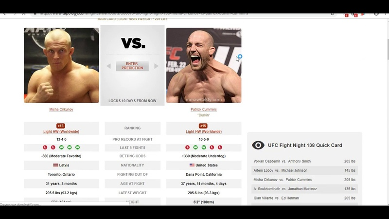 Прогноз и аналитика от MMABets UFC FN 138 Циркунов-Камминс,Сукамтат-Мартинез.Выпуск №121. Часть 56
