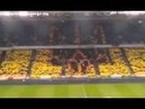 Герб Украины на матче Динамо -  Шахтер 16 апреля 2014
