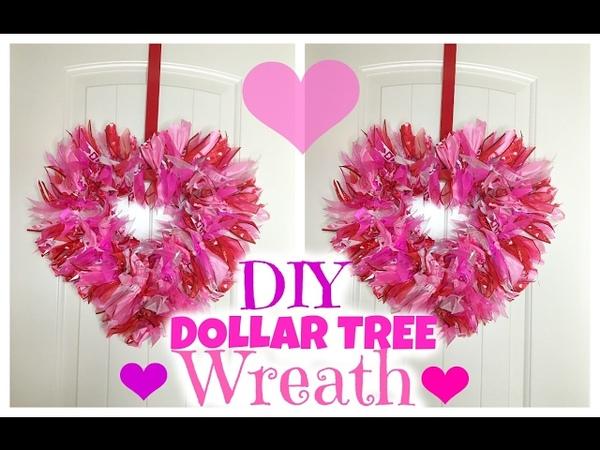 Dollar Tree DIY Valentine's Wreath