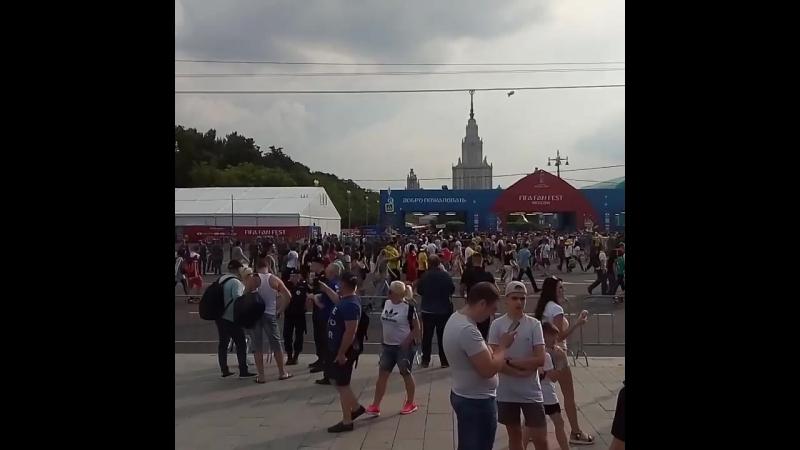 Фан зона на Воробьевых
