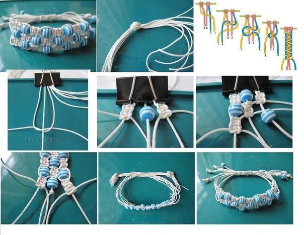 Тройная шамбала из веревки
