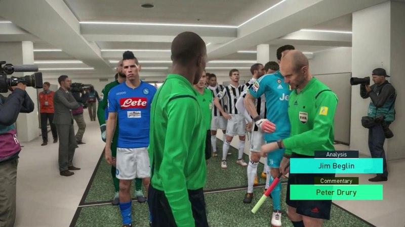 Juventus vs Napoli Full Match Goals 2018 PES 2018 Gameplay PC