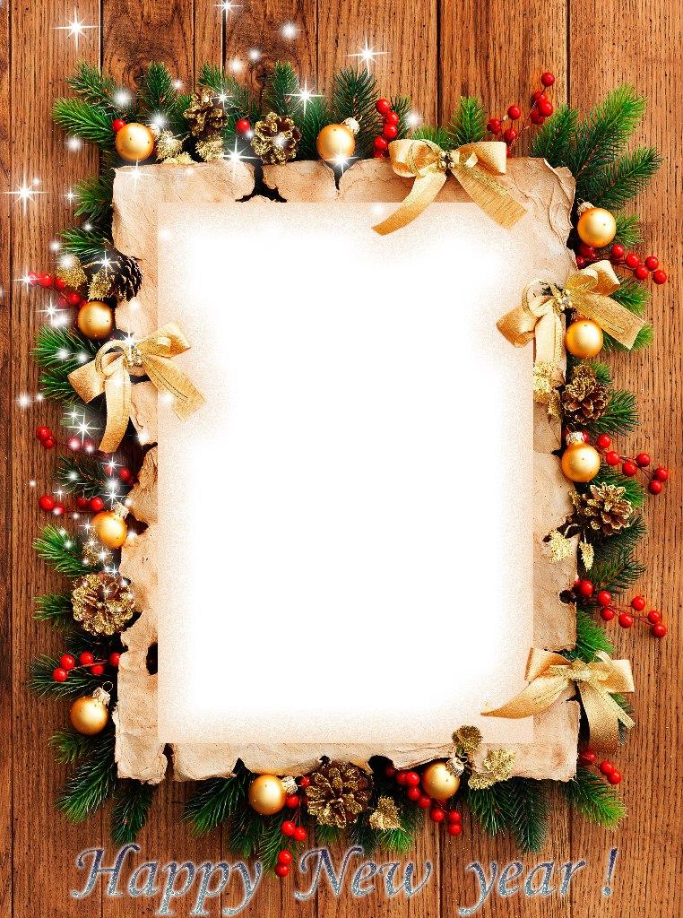 Как сделать новогодние рамки для фотошопа