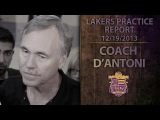 Lakers Practice: Mike D'Antoni Reacts To Kobe Bryant Being Out Six Weeks With Knee Injury