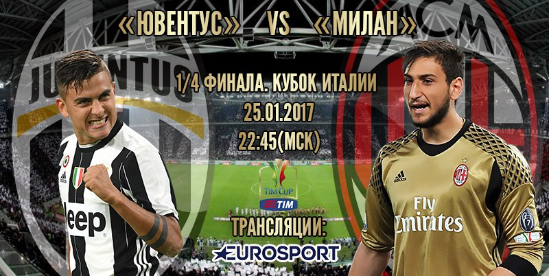 Превью матча Ювентус - Милан