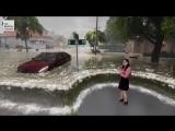 Демонстрация опасности урагана в прогнозе погоды [NR]