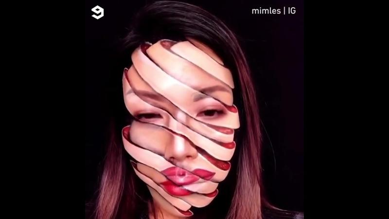 Оптические иллюзии на лице