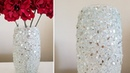BLING HOME DECOR   INEXPENSIVE DIY   CRUSHED GLASS DECORATIVE VASE   LOTS OF BLING DECOR 2018