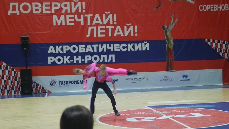 Нижников Антон - Мирошникова Елена. А-класс микст юниоры и юниорки. 1/4 финала